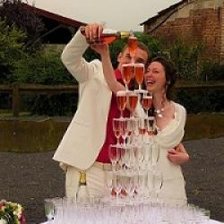 mariage et vin d'honneur à la campagne